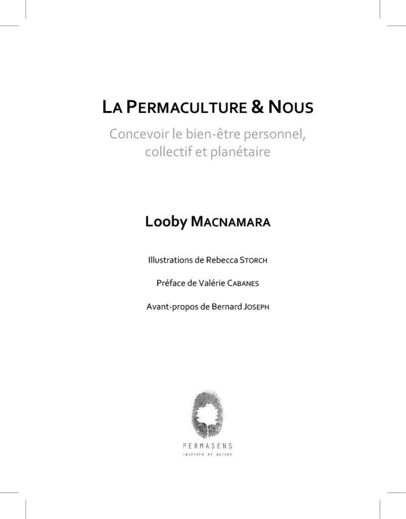 couverture livre la permaculture et nous